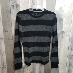 Express Black and Grey Wagfle long Sleeve Thermal